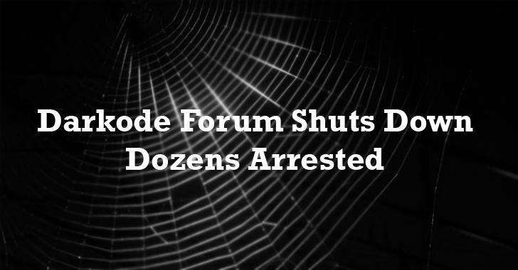 Darkode Forum Shuts Down, Dozens Arrested