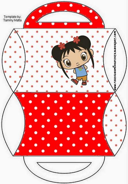 Caja tipo almoada Ni Hao Kai Lan para imprimir gratis.