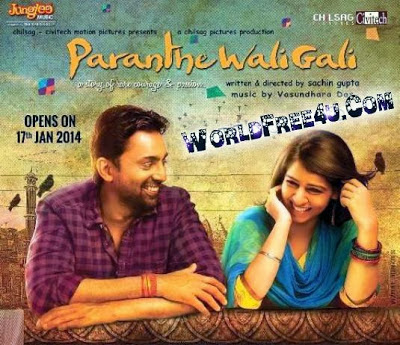 Poster Of Bollywood Movie Paranthe Wali Gali (2014) 300MB Compressed Small Size Pc Movie Free Download worldfree4u.com