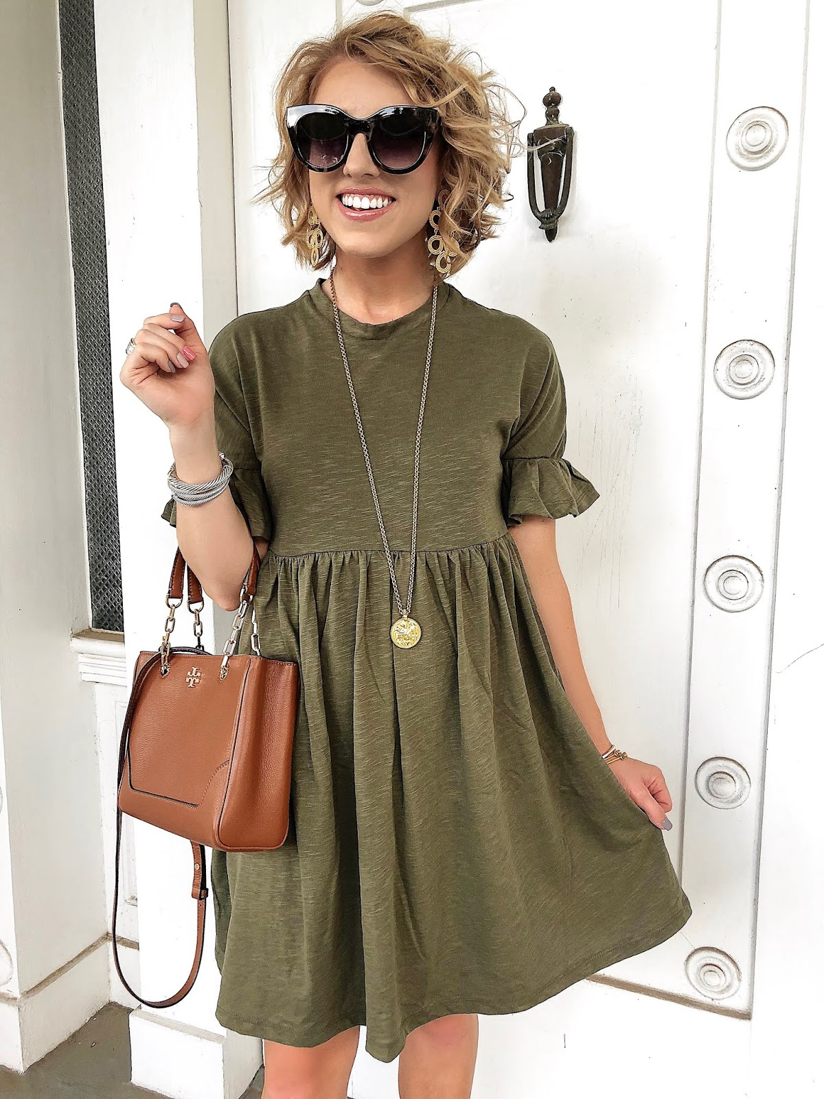 Easy $29 Ruffle Sleeve Dress - Something Delightful Blog