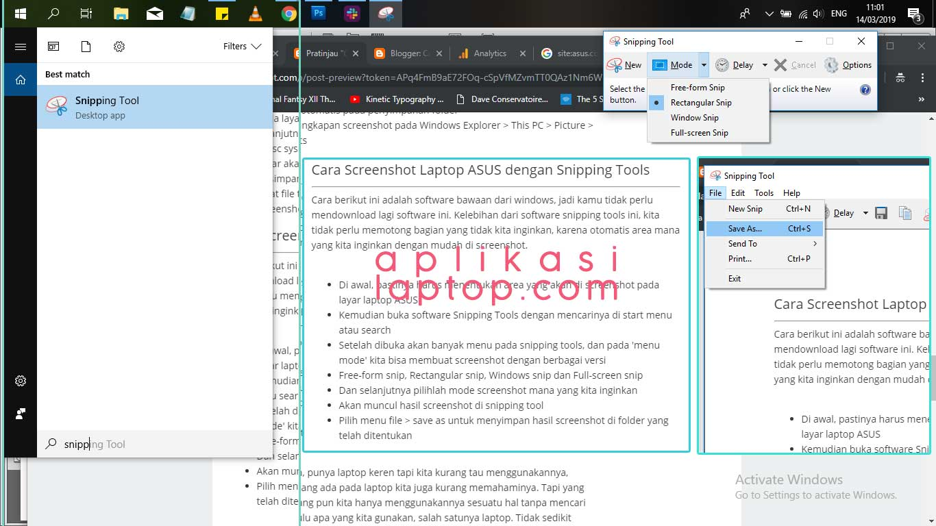 Cara Screenshot Di Laptop Asus