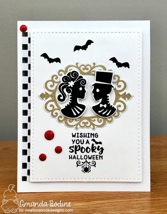 Halloween card by Amanda Bodine | Creepy Cameos Halloween Stamp Set by Newton's Nook Designs #newtonsnook #handmade