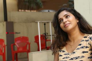 Telugu Actress Karunya Chowdary Stills in Short Dress at ATM Not Working Press Meet  0302.jpg