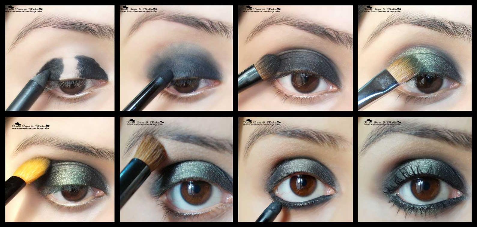 Green Smokey Eye Makeup Step By Step Tutorial: New Year's ...