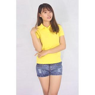 áo thun nữ màu vàng