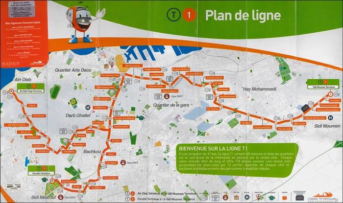 Plan du Tramway de Casablanca