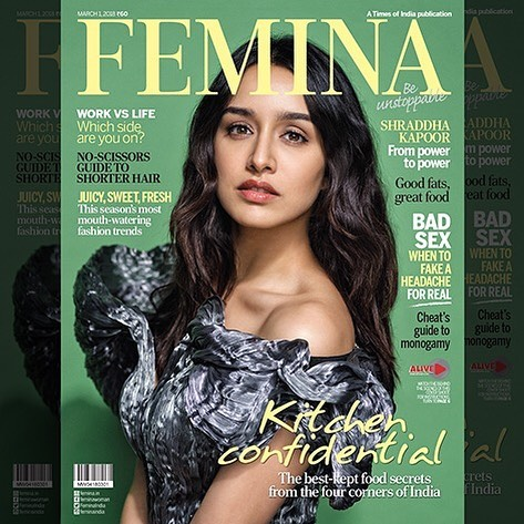 Shraddha Kapoor at Femina Magazine Cover