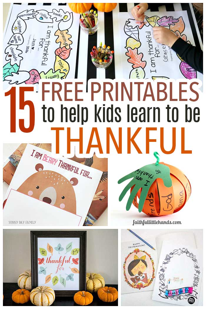 Free gratitude printables for kids! Thankgiving activities, Thanksgiving printables, gratitude activities, for kids of all ages! Includes Thanksgiving placemats, book inspired printables, printable ornaments, and more.