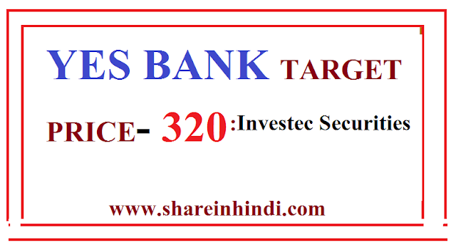 YES BANK TARGET PRICE RS-320 | YES BANK ONE YEAR TARGET PRICE | Investec Securities