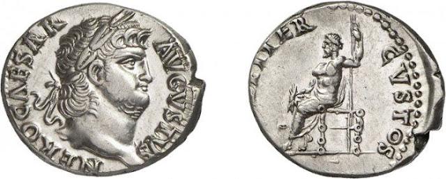 Denario del emperador romano Nerón