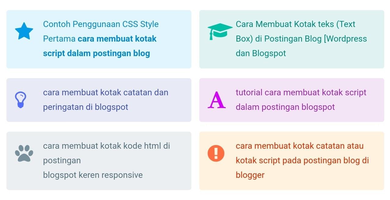 Cara Membuat Kotak Catatan Di Postingan Blog Keren Responsive