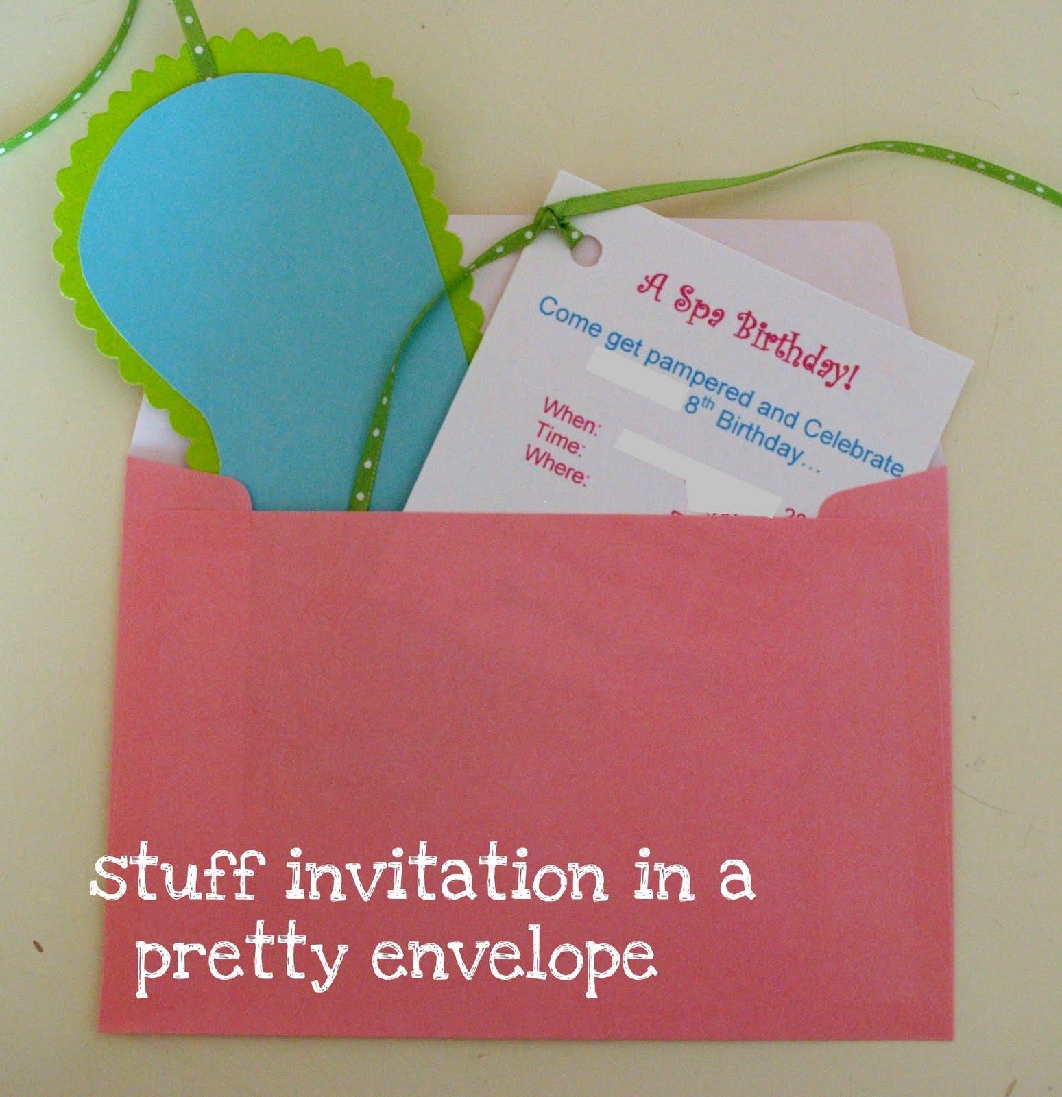 The Shabby Nest: DIY Spa Birthday Party Invitations~