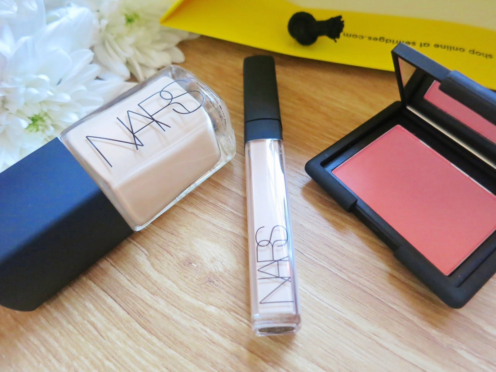 NARS Beauty Haul Nars Sheer Glow Foundation, Nars Radiant Creamy Concealer, Nars Blush Deep Throat