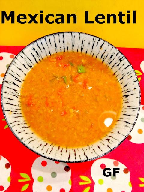 Mexican vegan lentil soup