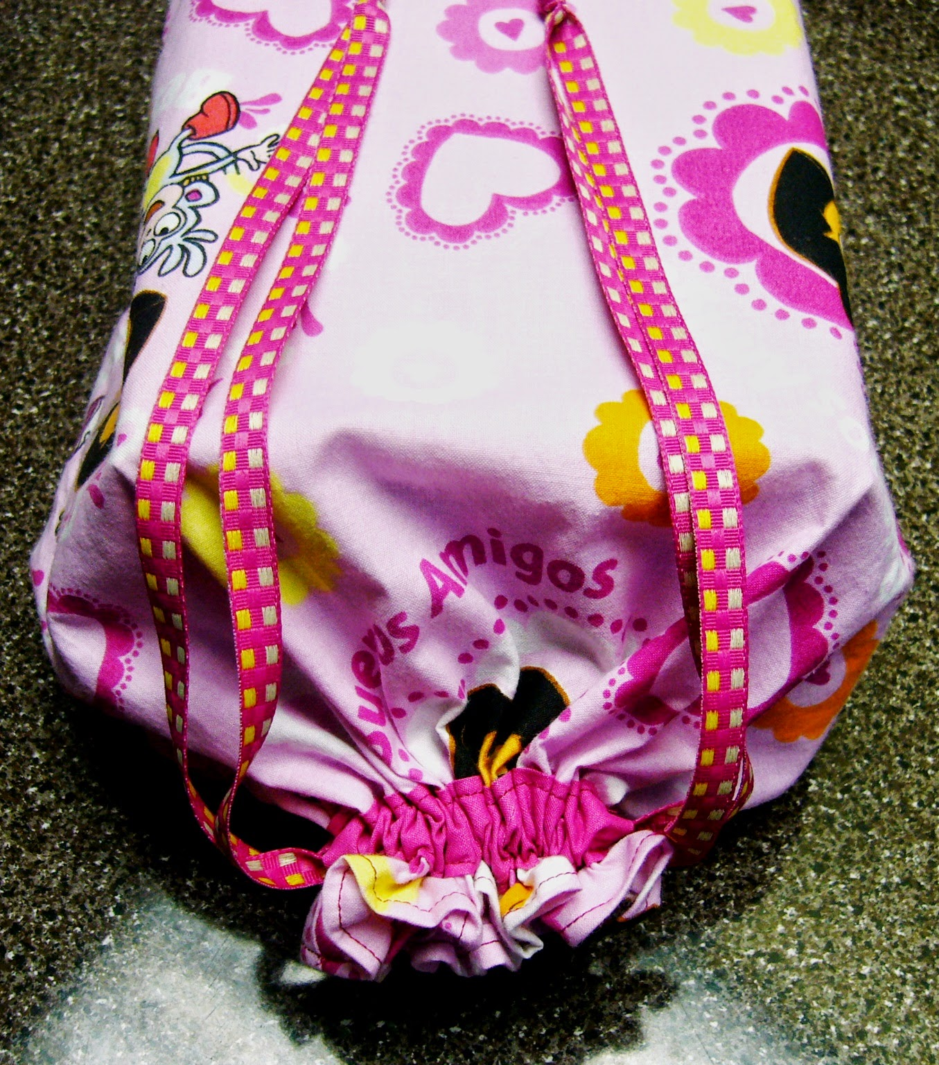 Dora Explorer fabric draw string bag for OCC