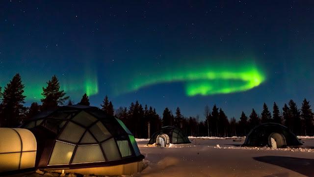 hotel de hielo ver aurora boreal