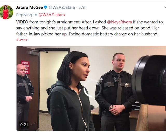 Actress Naya Rivera arrested for hitting her husband (photos)