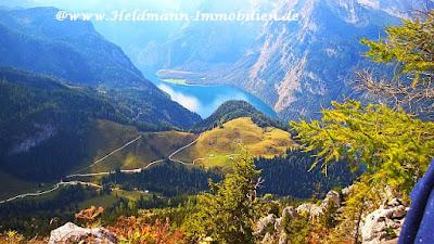 In den Bayerischen Alpen (Berchtesgaden) - Koenigssee und Berg Jenner