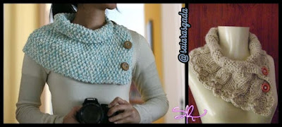cachecol feminino gola feminina mulher inverno lindo quente fofo elegante trico tricot croche lã barbante botão moderno simples chique
