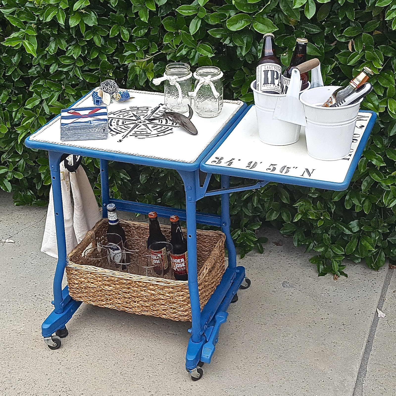 Repurposed Typewriter Table Into Bar Cart