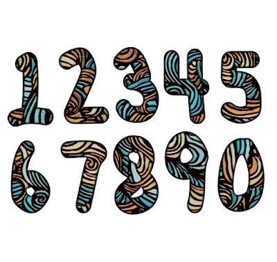 free numbers, free birthday numbers, free clipart numbers, free clip art numbers, hand drawn numbers