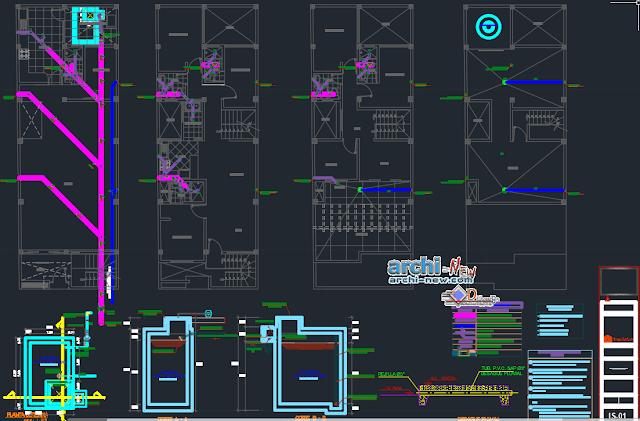 Housing three plateau in AutoCAD