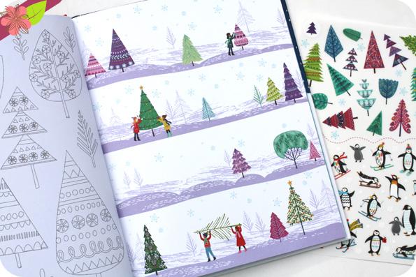 Noël - Livre de décalcomanies - éditions Usborne