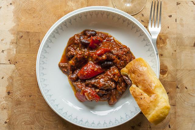 Grillad chili con carne