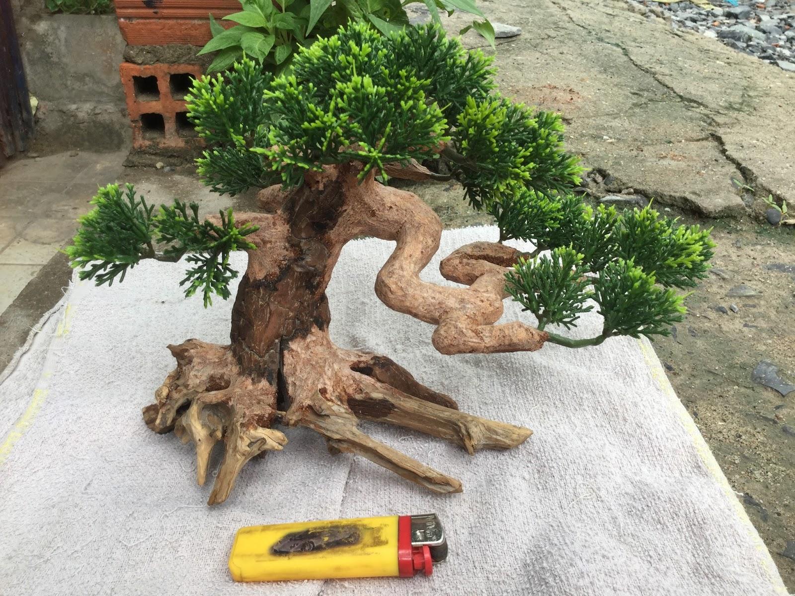 cây giả trang trí hồ thủy sinh