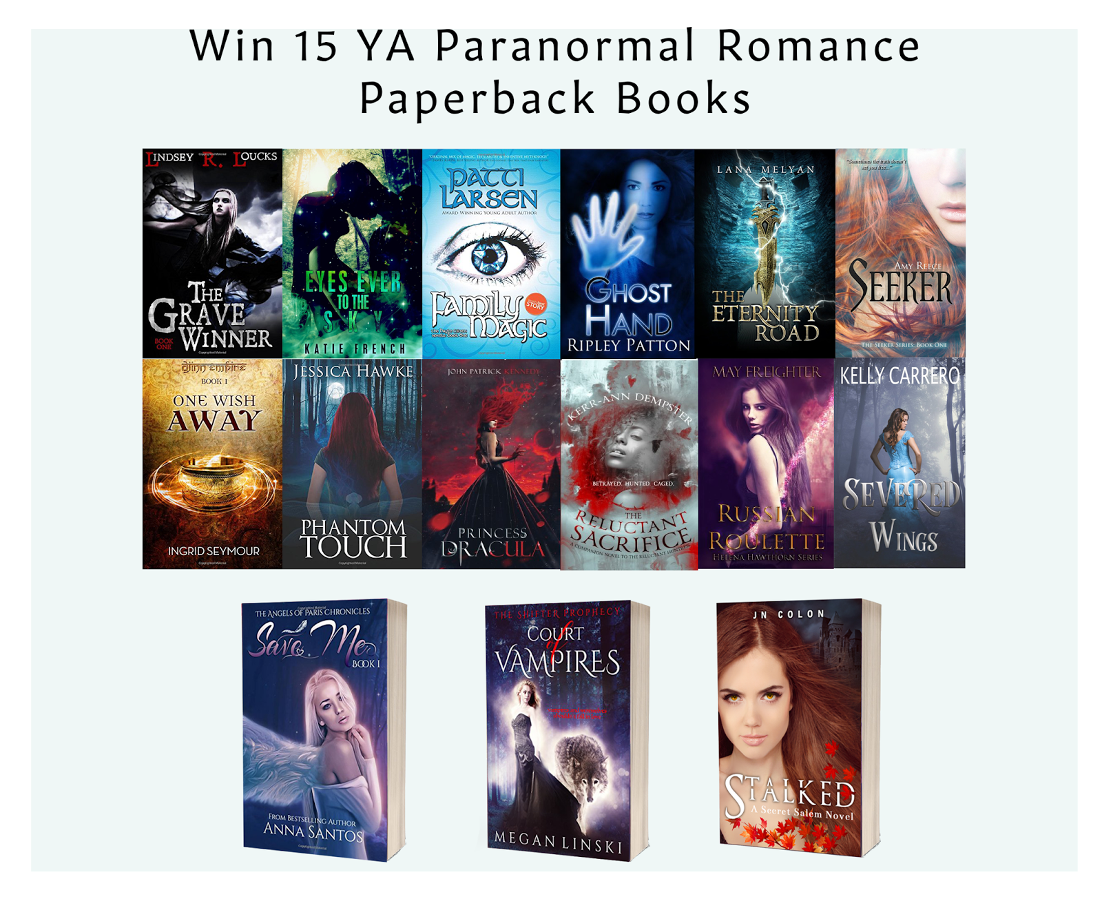 Want To Win Young Adult Paranormal Romance Books?