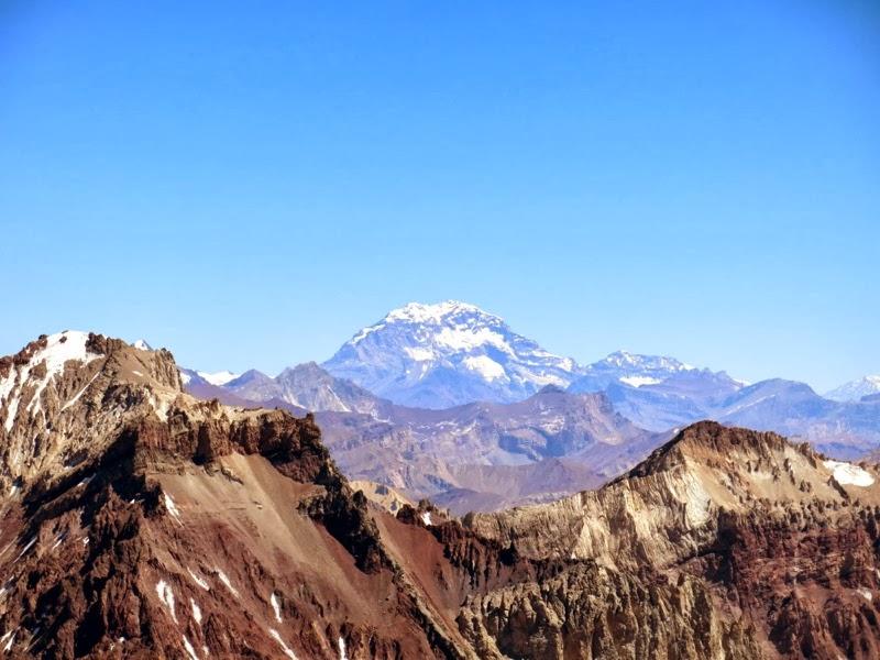 Blick auf die Südwand des Aconcagua