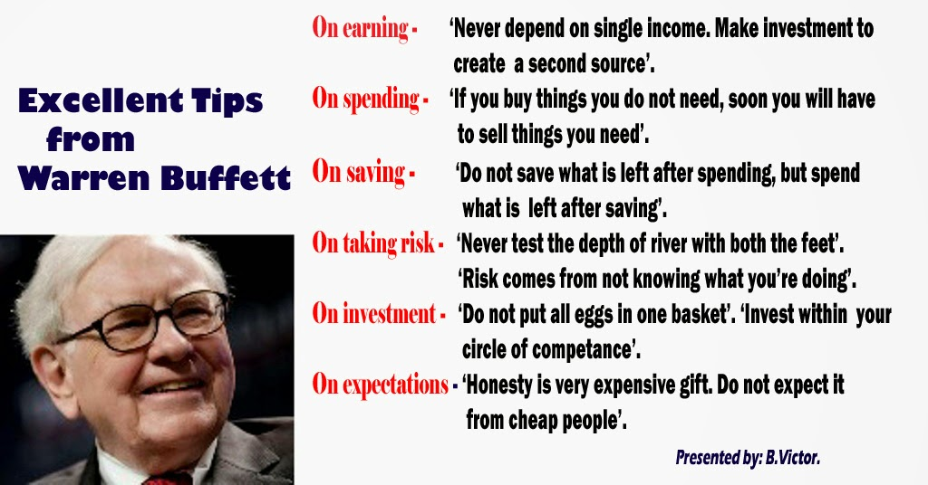 bonvictor.blogspot.com: Excellent Tips from Warren Buffett