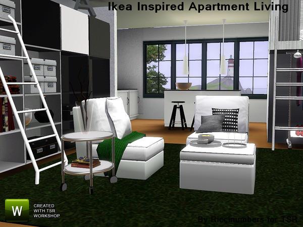 Custom Sims 3 Ikea Inspired Apartment Living