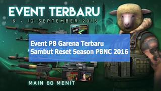 Event PB Garena Indonesia Sambut Reset Season PBNC 2016