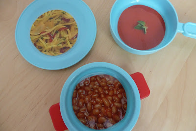 Simple play food for pretend meals