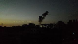 فيديو: قصف و غارات إسرائيلية عنيفة على عدة مواقع في قطاع