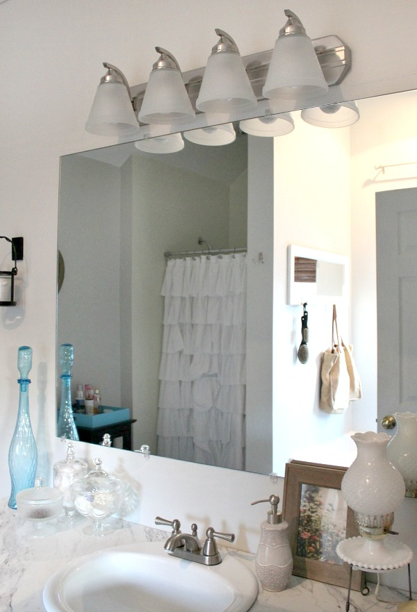 Simple solution for repairing water damaged drywall- subway tile!
