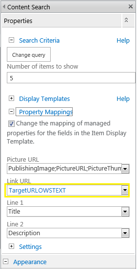 sharepoint 2013 content search web part picture url