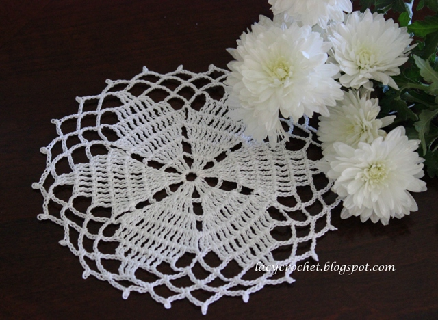 Free Crochet Star Doily Pattern : Doily from Anabelia (symbol chart only)