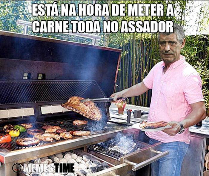 Meme Fernando Santos – Está na hora de meter a carne toda no assador