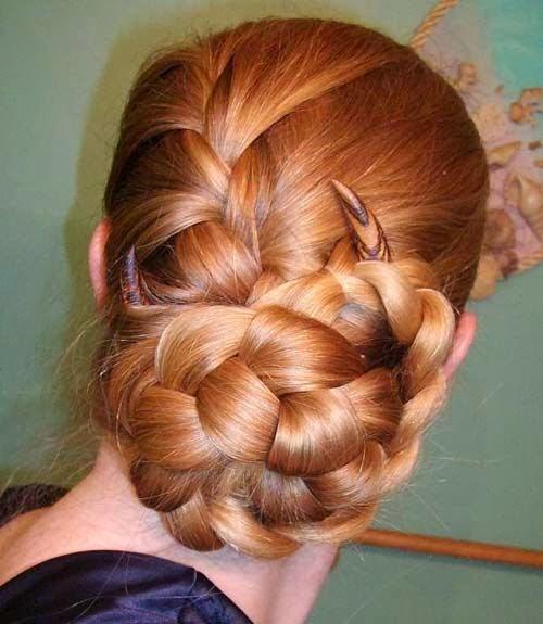 Braided hairstyles 2015 in bun style}