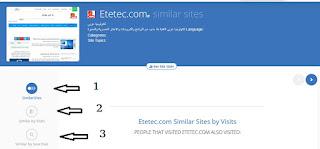 البحث عن مواقع مشابهة لأى موقع