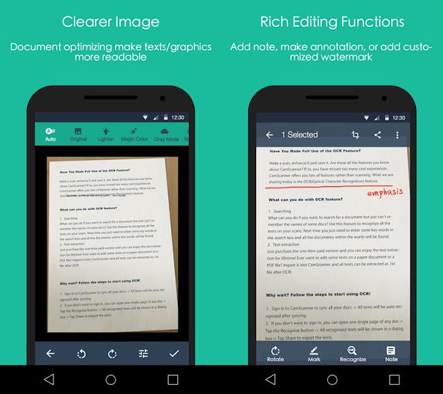 Aplikasi CamScanner - Scan Dokumen Untuk Android