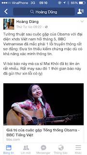BBC Việt ngữ đưa tin sai, xin lỗi đãi bôi với zân chủ