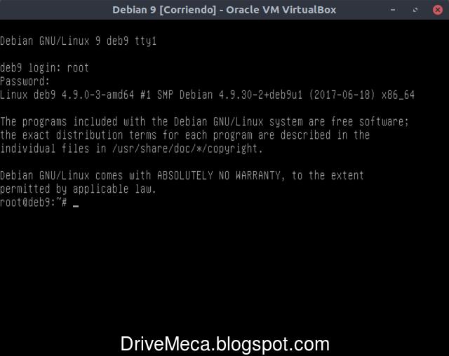 Iniciamos con linux debian 9