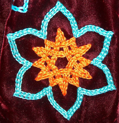 Bridget's chain stitch star design