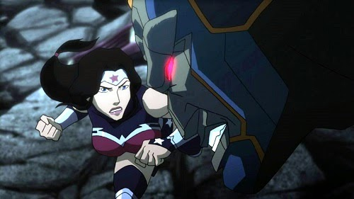 Wonder Woman vs Darkseid Justice League War DC Universe Animated Original Movie 2014