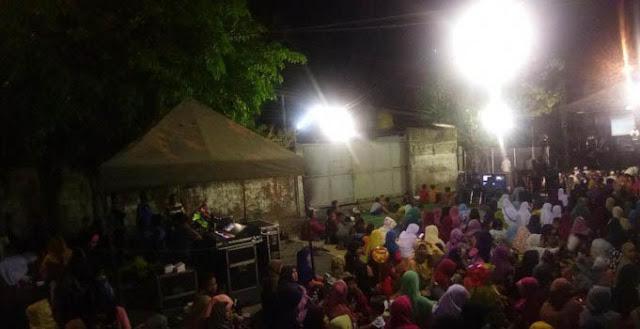 Dandim 0831 Bersama GP Ansor Surabaya Gelar Nobar Film G30S/PKI, Warga Antusias