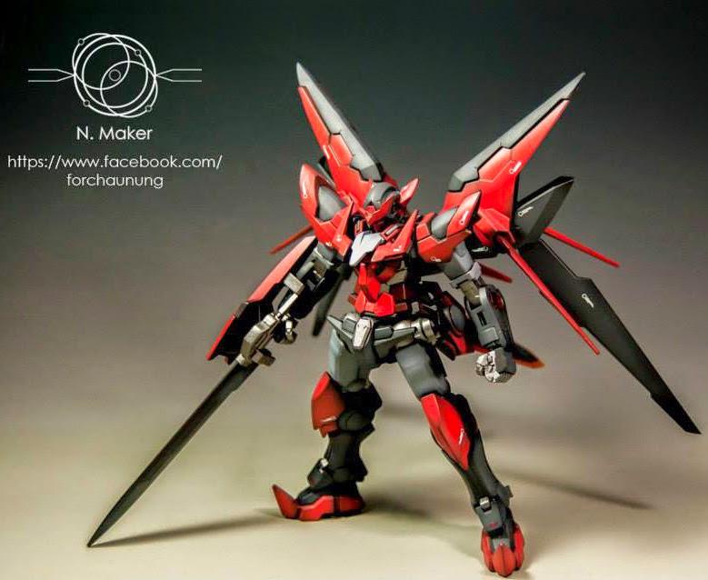 GUNDAM GUY: HGBF 1/144 Gundam Exia Dark Matter - Painted Build