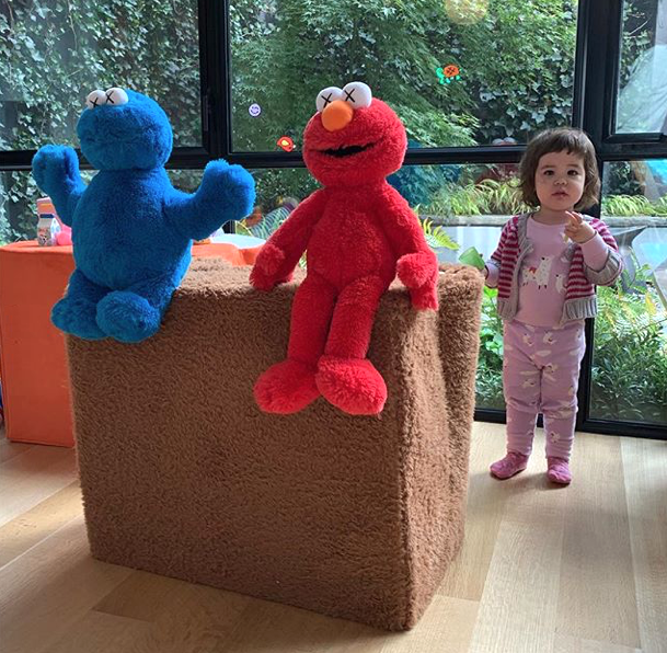 Kaws Does Elmo Cookie Monster Plush For Sesame Street X Uniqlo